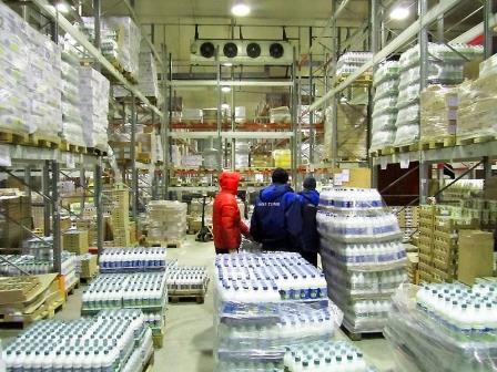Хранения молочной продукции на складе