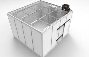 Промышленная холодильная камера хранения мяса