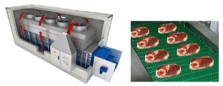 Флюидизационные аппараты для шоковой заморозки мяса