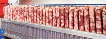 Шоковая заморозка мяса в плиточном аппарате