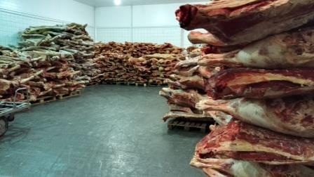 Хранение замороженного мяса в полутушах