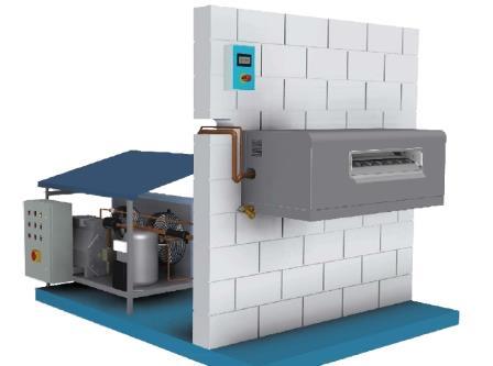 Льдогенератор с выносным холодильным агрегатом