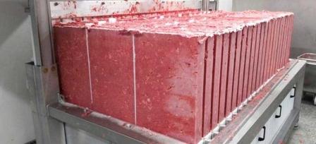 Шоковая заморозка фарша в блоках